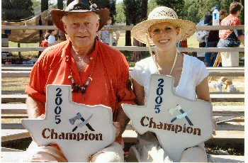 Texas State Champions Bob Pyle and Erica Weems