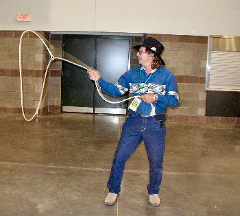 Here we have Mark 'Markaroo' Mulligan giving me a quick demo of some rope tricks.